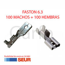 Pack 200X Terminal Faston 6.3 mm 100 Hembras y 100 Machos
