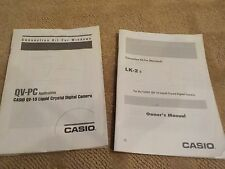WINDOWS & MACINTOSH CONNECTION KIT MANUALS FOR CASIO QV-10 LCD DIGITAL CAMERAS