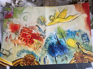 Vintage Marc Chagall Print, Dauphins & Chloe, French Publication 1970s/ double
