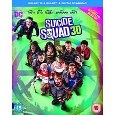 Suicide Squad Includes Digital Download Blu-ray 3d 2016 Region