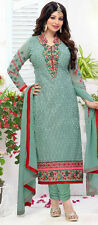 INDIAN DESIGNER GEORGETTE DRESS MATERIAL CHIKEN EMBROIDERY