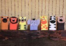 Finger Puppet Zoo Animals, Set of 7 Felt Toys, Boy Girl School Learning Toys