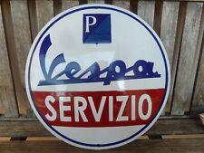 Vespa Piaggio Emailschild gebraucht 40cm sehr schwer Roller Werbung scooter sign