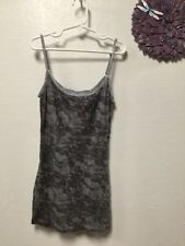 d5837d56249422 Womens slimming camisole tank top junior size XS gray shades Daisy Fuentes  125