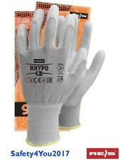 1 6 12 Anti Cut level 5  Resistant Work Safety Gloves Builders Grip Outdoor PU