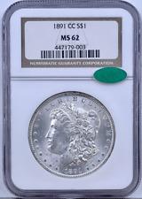 1891 CC Morgan Silver Dollar $1 NGC MS 62 CAC Verified Silver Fox Collection