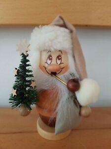 Christian Ulbricht Weihnachtsmann mit Baum Räuchermann Miniwichtel Erzgebirge