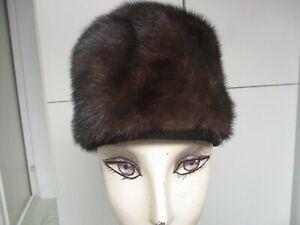 Vintage Dark Brown Mink Fur hat