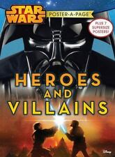 Star Wars I-VI Heroes and Villains Poster-A-Page by Disney (2015, Paperback)