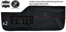 RED STITCH 2X FRONT LOWER DOOR CARD TRIM LEATHER COVERS FITS VW TYPE 3 T3