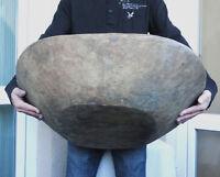 """26+"""" GIANT primitive 1800's Rustic Farmhouse Antique Hand-hewn Wooden Dough Bowl"""