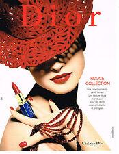 PUBLICITE ADVERTISING 074  1999  DIOR  collection rouge à lèvres cosmétiques