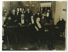 """Rudolph Loman - Dutch """"Blindfold"""" Chess Player - Early 1900s Press Photograph"""