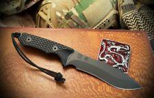 Spartan Blades Knife Ronin Shinto Black Blade Black Handle Black Nylon Sheath