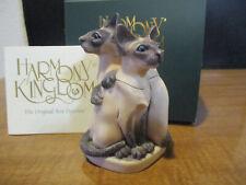 Harmony Kingdom Meezer Teasers Siamese Cats Uk Made Box Figurine Rare 400