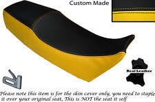 YELLOW & BLACK CUSTOM FITS APRILIA AF1 125 86-88 DUAL LEATHER SEAT COVER