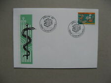 LUXEMBOURG, cover FDC 1993, new technics in surgery, ill. cover snake