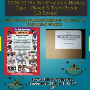 New York Rangers  - 2020-21 Pro Set Memories Hockey Case Break (10 Boxes) #1
