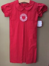 Girls Boutique 4T Heart Appliqué Dress NEW NWT Valentine's Day Long Runs Big 5