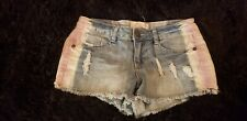 Faded red white & blue Denim Shorts