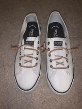 Women's SPERRY white Boat Shoes Size 7.5