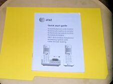 At&T Dect 6.0 Cordless Telephone Quick Start Guide-Mod#El52103 Series-Original