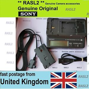 Genuine SONY AC-V700 AC Adaptor Charger & DK-415 for NP-F900 L series HVR-Z1E