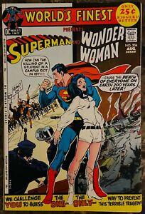 DC World's Finest Comics #204 VF/NM Superman Wonder Woman Neal Adams cover