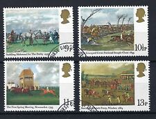 GB 1979 SELECTED Horseracing Paintings and Bicentenary of Derby SG 1087-1090 FU