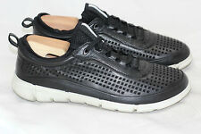 Mens ECCO Sport 'Intrinsic' Perforated Sneakers - Black - 42 / 8 - 8.5US (W24)