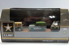 Greenlight US ARMY Diorama 5 Car GREEN MACHINE Set 1/64 MIB VHTF see pic details