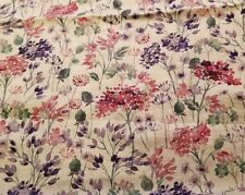 Watercolor Botanical Print on Natural Japanese Linen - Absolutely Gorgeous!