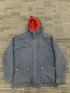 Vintage Ellesse Navy Long Parka Jacket Coat Size XXL Mens
