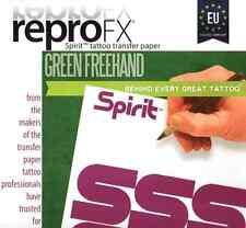 5x EU Matritzenpapier SPIRIT GREEN Handskizze A4 TATTOO VORLAGE - INKgrafiX® D