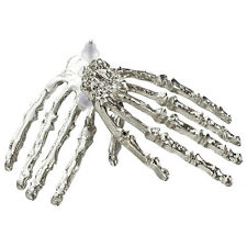 Cool Punk Gothic Big Skeleton Hand Shining Silver Stud Earring--1 Pair Z3M4