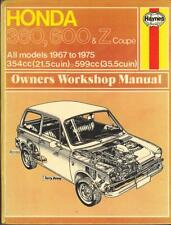 HONDA Z COUPE, Z600, N600, A600, N360, A360, LN360 Manuale Haynes Workshop 1967-1975