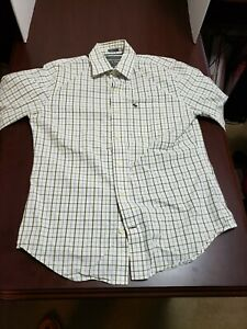 Abercrombie & Fitch Mens Button Up Shirt Adult Medium White Long Sleeve Muscle