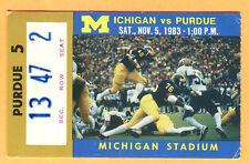 11/5/83 MICHIGAN/PURDUE FOOTBALL TICKET STUB