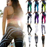 Damen Yoga Leggings Fitness Leggins Jogginghose Trainingshose Stretch Sporthose