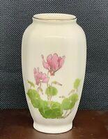 "Otagiri Cyclamen Floral Flower Miniature Vase made in Japan 3 3/4"""