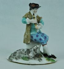 19th Century Meissen porcelain figurine Boy with Dog, Playing. (BI#MK/0317.TMP)