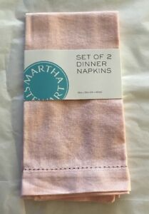 "Martha Stewart Easter Set of 2 Dinner Napkins Pink,18"" x 18"" Close out -New"