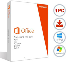Microsoft Office 2016 Pro Professional Plus EN ESPAÑOL SPANISH ONLY 32-64 bits