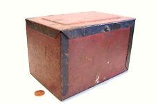 Antique Tin Spice Box Storage Tea Chest or Documents - Primitive