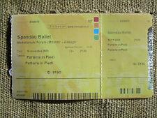 Biglietto concerto Spandau Ballet  Firenze Italia 17 / novembre / 2009