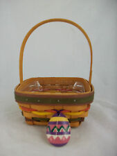 Longaberger 1998 Small Easter Basket Combo w Tie On Cracked