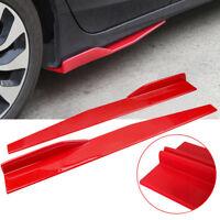Red Universal Car SUV Side Skirt Rocker Splitters Winglet Wings Canard Diffuser