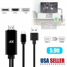 For Samsung Galaxy S10 S9 S8 Note9 Type-C USB-C to HDMI w/Charging Cable Adapter