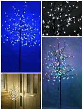 Garden Mile 6ft 1.8m Pre-lit With 240 White LED Lights Cherry Blossom Tree