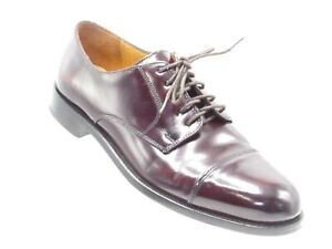 Cole Haan Caldwell Size 8.5 D Burgundy Leather Cap Toe Oxfords Derby Mens Shoes